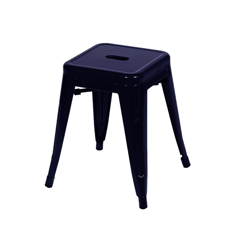 Banqueta Tolix Azul Escuro Baixa Ø47cm
