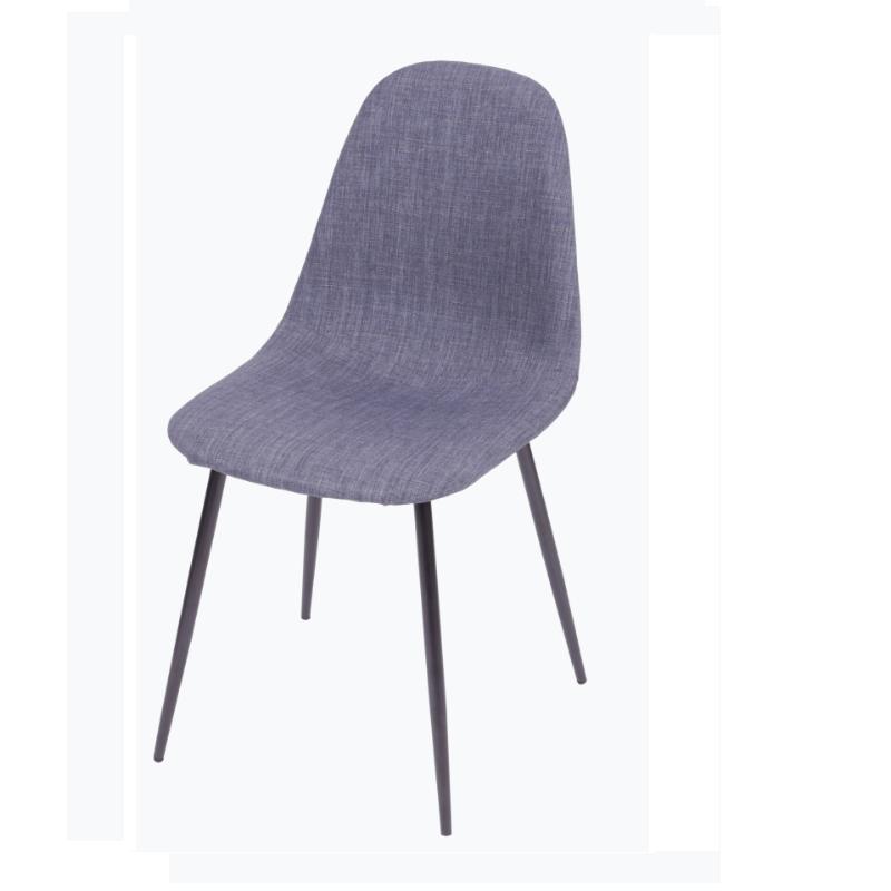 Cadeira Cloud Jeans Azul Base Preta