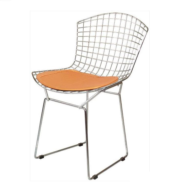 Cadeira Bertóia Aramado Cromado Assento Cobre