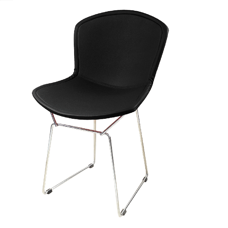 Cadeira Bertóia Aramado Capa Total Preta