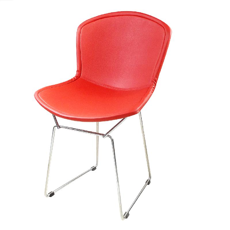 Cadeira Bertóia Aramado Capa Total Vermelha