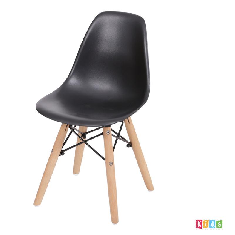 Cadeira Eiffel Polipropileno Preta Infantil