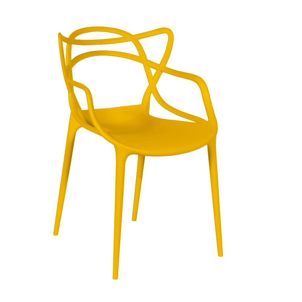 Cadeira Masters Allegra Polipropileno Amarela