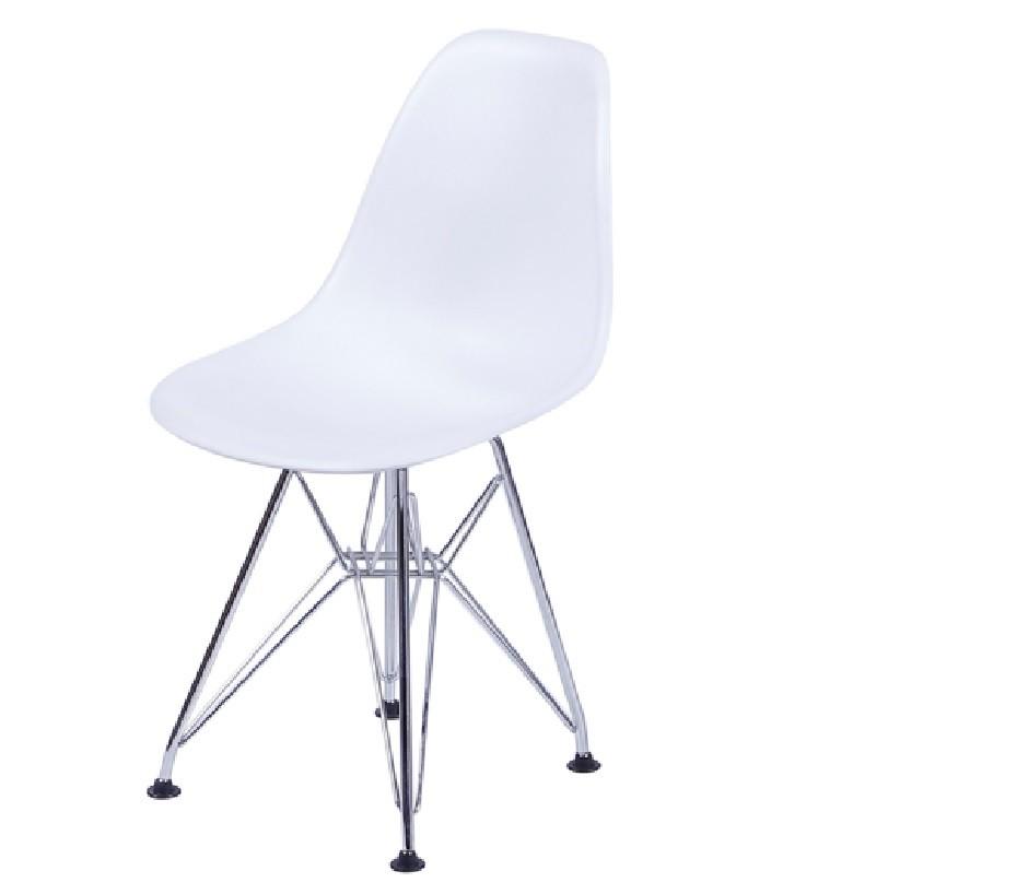 Cadeira Eiffel Eames Polipropileno Branca Pé Cromado