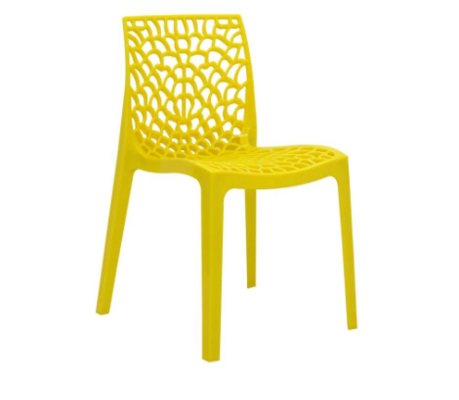 Cadeira Gruvyer Polipropileno Amarelo