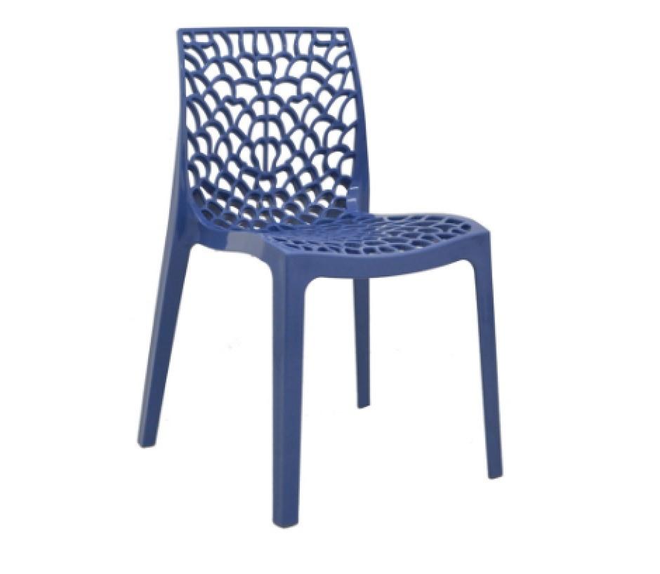 Cadeira Gruvyer Polipropileno Azul