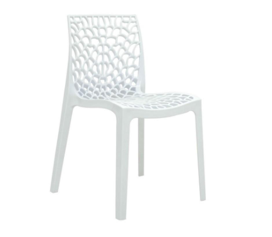 Cadeira Gruvyer Polipropileno Branca