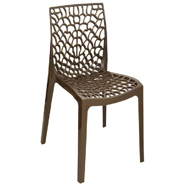 Cadeira Gruvyer Polipropileno Marrom
