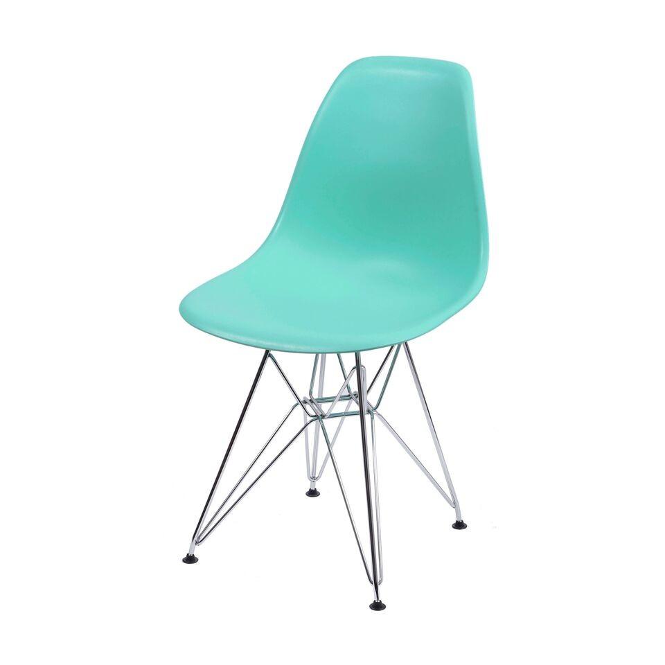 Cadeira Eiffel Eames Polipropileno Tiffany Pé Cromado