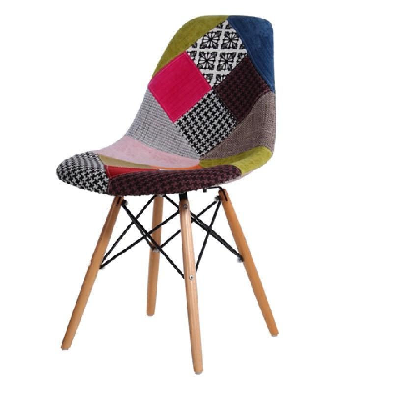 Cadeira Eiffel Polipropileno Patchwork Sem Braço