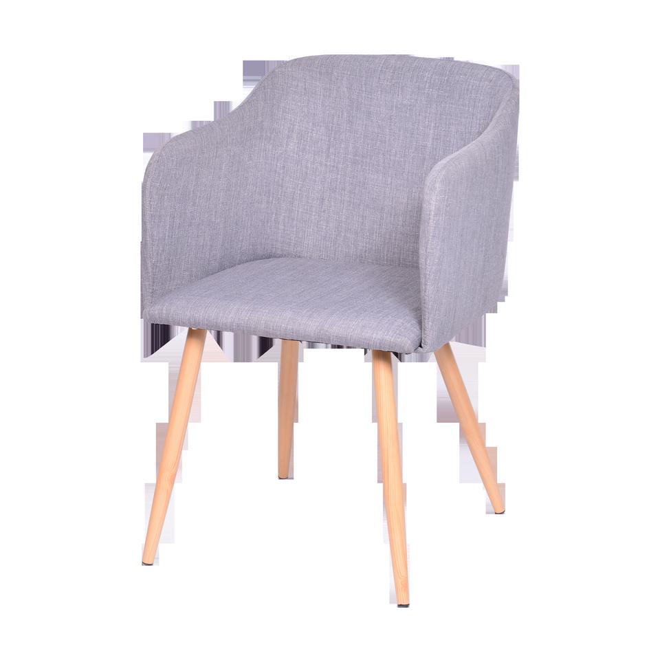 Cadeira Cloud Cinza Com Braço