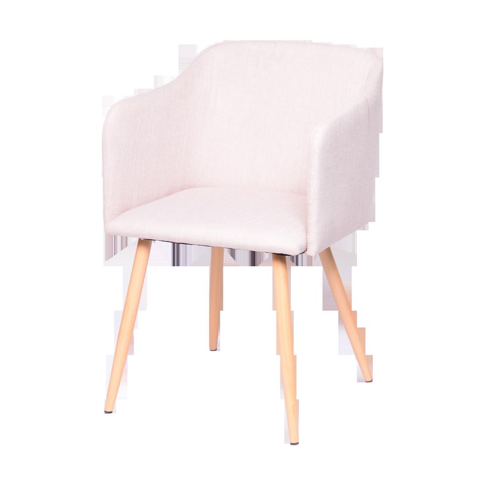 Cadeira Cloud Bege Com Braço