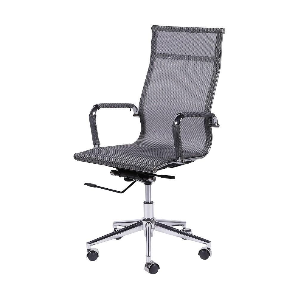 Cadeira De Escritório Esteirinha Tela 3303 Alta Cinza