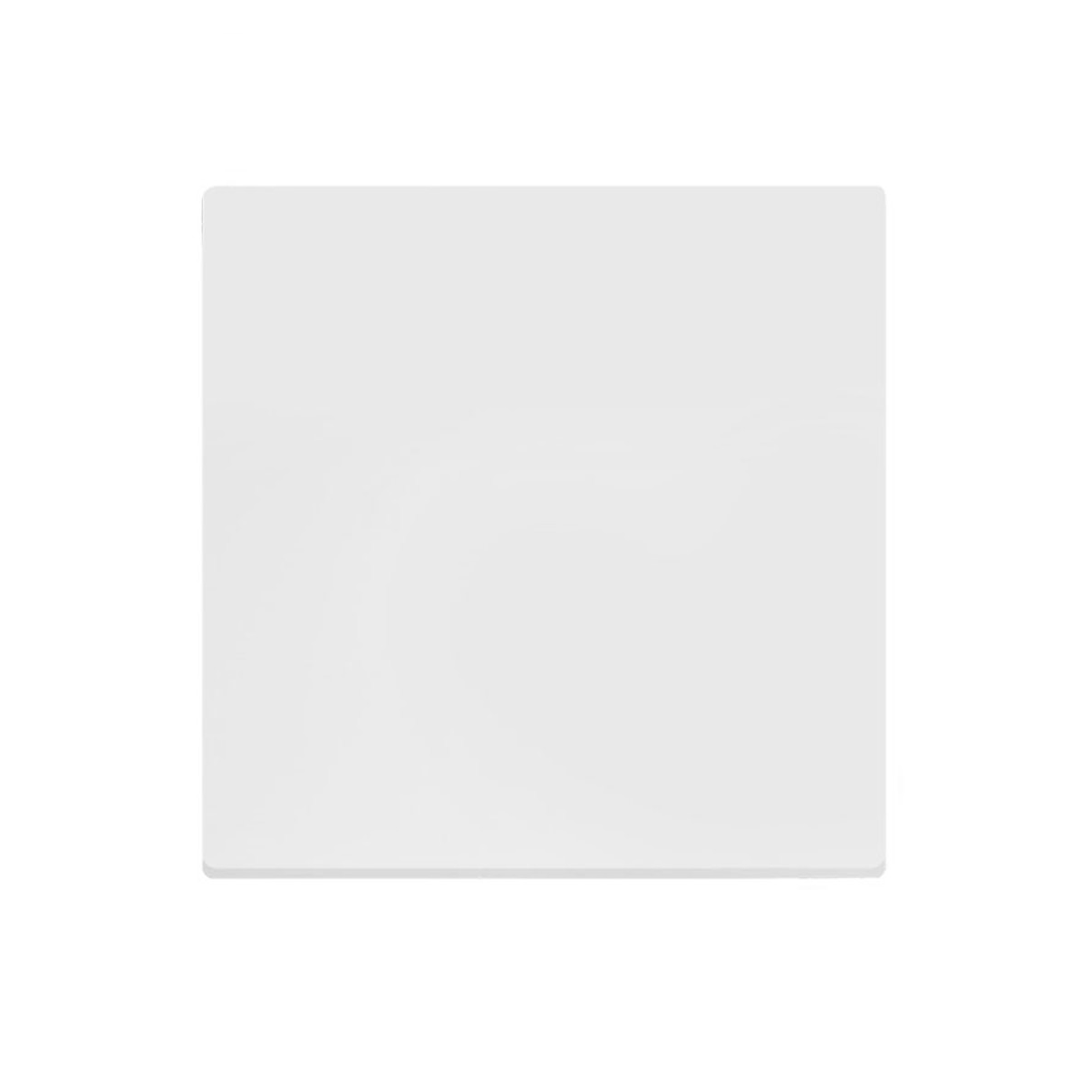 Tampo de Mesa Quadrado Branco Chanfrado 68cm