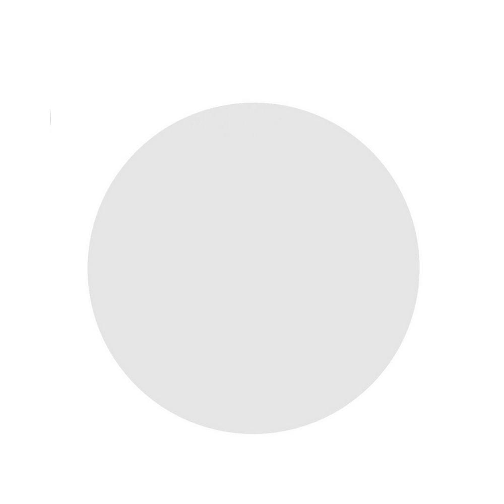 Tampo de Mesa Redondo Branco Chanfrado 1,00cm