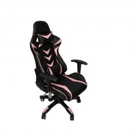 Cadeira De Escritório Office Pro Gamer Craft Preta e Rosa