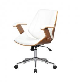 Cadeira Office Lisboa sem Encosto Branca