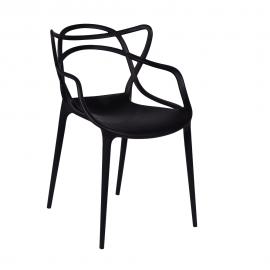 Cadeira Masters Allegra Polipropileno Preta