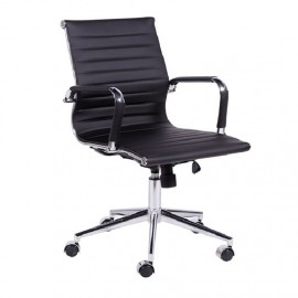 Cadeira De Escritório Esteirinha 3301 Baixa Preta