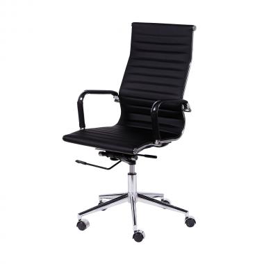 Cadeira De Escritório Esteirinha 3301 Alta Preta