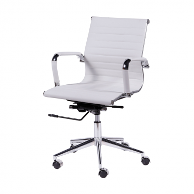 Cadeira De Escritório Esteirinha 3301 Baixa Branca