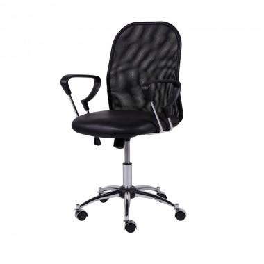 Cadeira De Escritório 3306 Telinha Mesh Baixa Preta