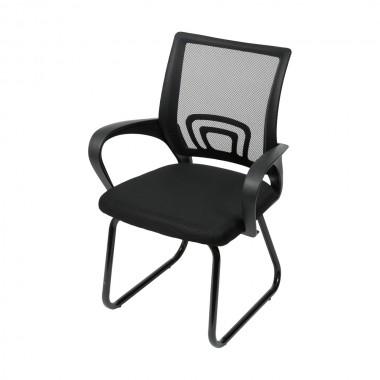 Cadeira De Escritório 3310 Preta Fixa