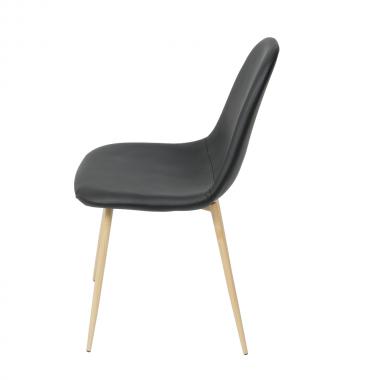 Cadeira Tânia Preta Base Madeira