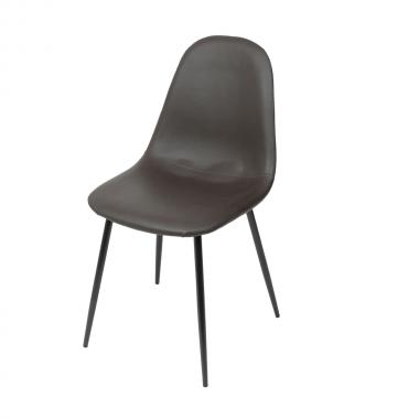 Cadeira Tânia Café Base Preta