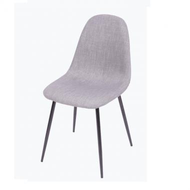 Cadeira Cloud Cinza Base Preta