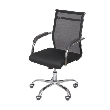 Cadeira De Escritório Office 3312 Baixa Preta