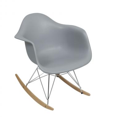 Cadeira Charles Eames Com Braço Cinza Balanço