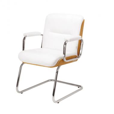 Cadeira Escritório Lavoro Baixa Branca Fixa