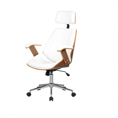 Cadeira Office Lisboa com Encosto Branca