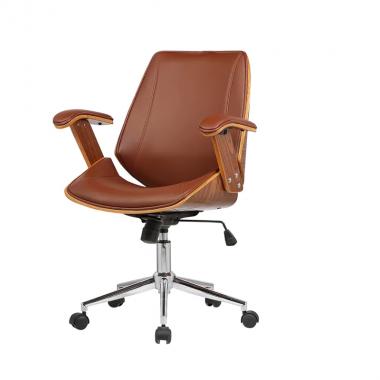 Cadeira Office Lisboa sem Encosto Marrom