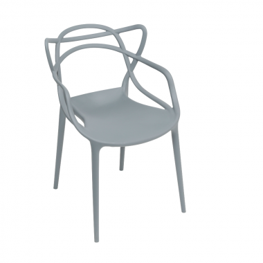 Cadeira Masters Allegra Polipropileno Cinza