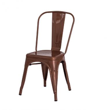 Cadeira Tolix Cobre Cromado