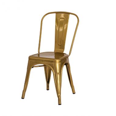 Cadeira Tolix Dourada Cromada