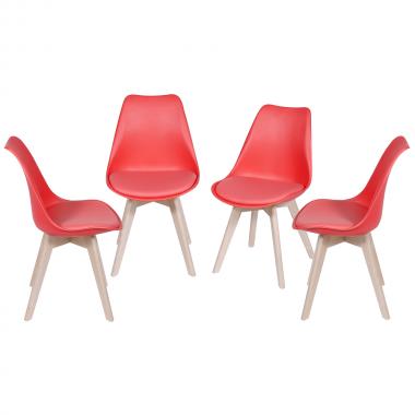 Conjunto 4 Cadeiras Leda Vermelha