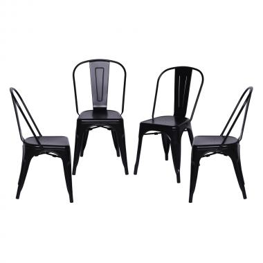 Conjunto 4 Cadeiras tolix Preta