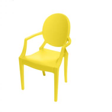Cadeira Ghost Polipropileno Amarela Infantil