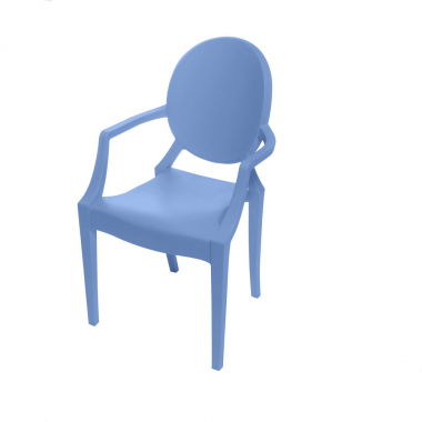 Cadeira Ghost Polipropileno Azul Infantil