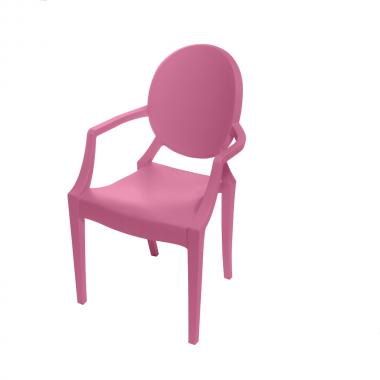 Cadeira Ghost Polipropileno Rosa Infantil