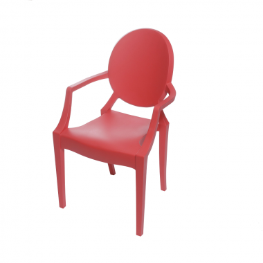 Cadeira Ghost Polipropileno Vermelha Infantil
