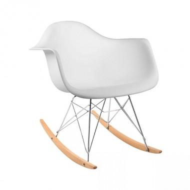 Cadeira Charles Eames Com Braço Branca Balanço