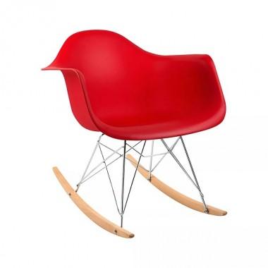 Cadeira Charles Eames Com Braço Vermelha Balanço