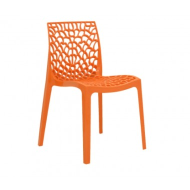 Cadeira Gruvyer Polipropileno Laranja