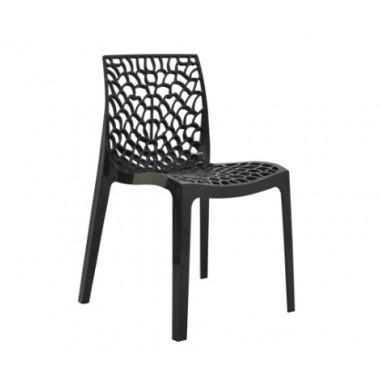 Cadeira Gruvyer Polipropileno Preta