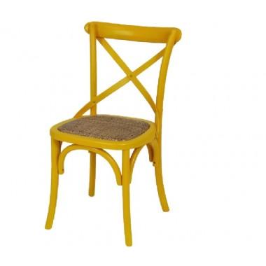 Cadeira Katrina Cross Amarela