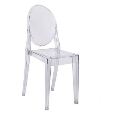 Cadeira Louis Ghost S/ Braço Transparente